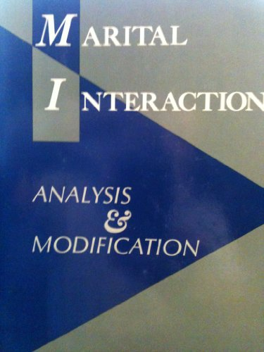 Marital Interaction: Analysis and Modification - Kurt Hahlweg; Neil S. Jacobson PhD