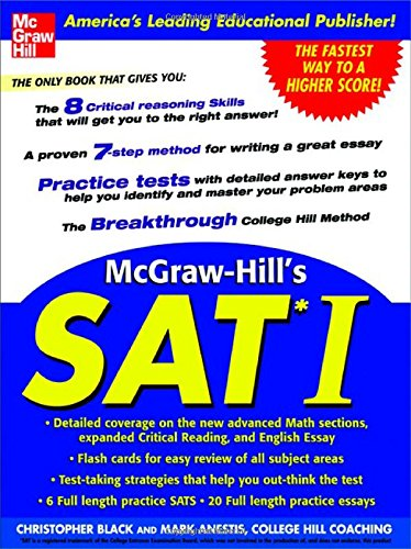 McGraw-Hill's SAT I - Christopher Black; Mark Anestis