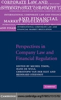 Perspectives in Company Law and Financial Regulation - Tison, Michel