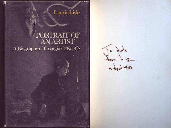 Portrait of an Artist. A Biography of Georgia O'Keeffe. Signed by author. - Lisle, Laurie