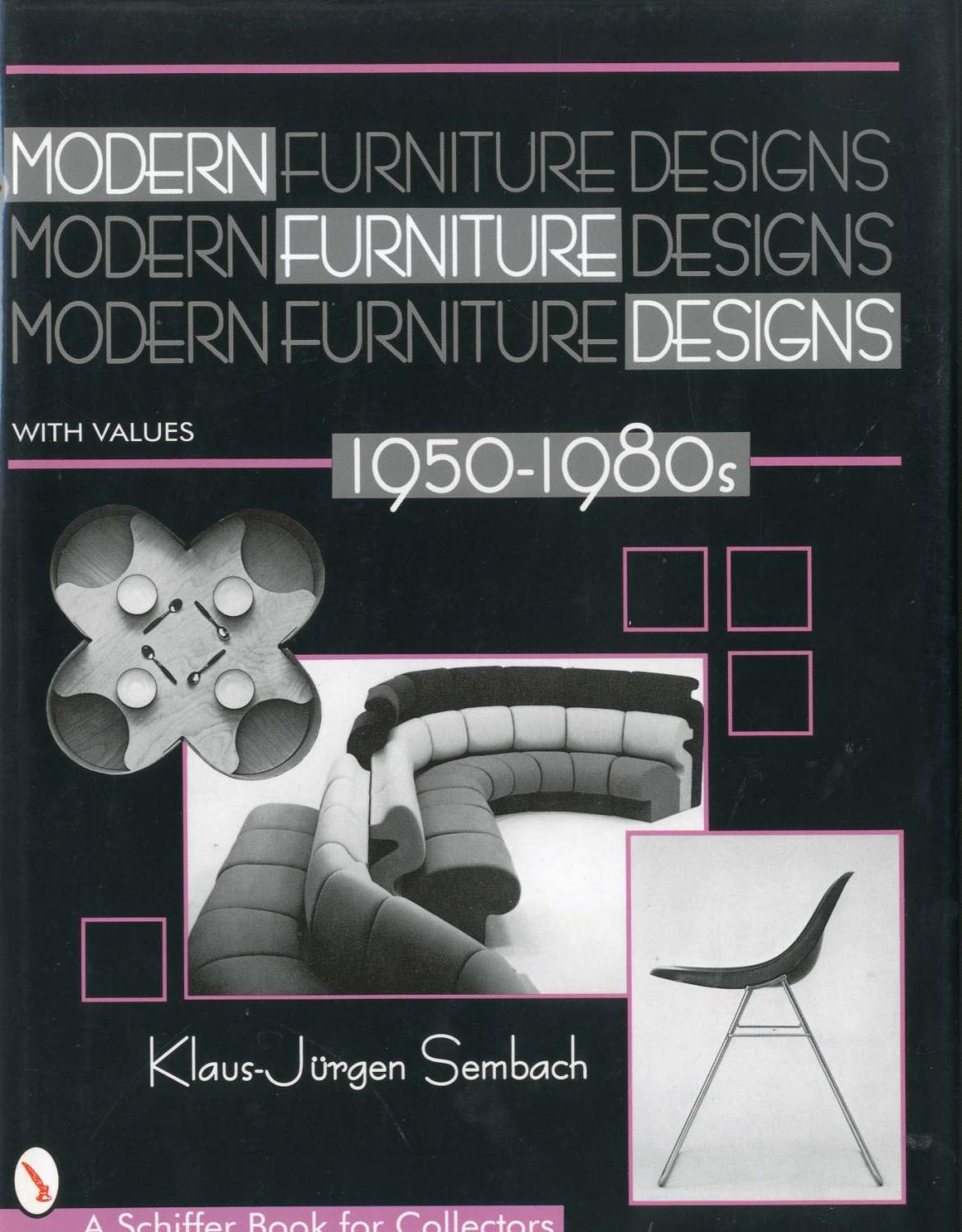 Modern Furniture Design 1959-1980 - Klaus-Jürgen Sembach