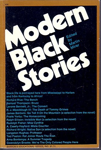 Modern Black Stories with Study AIDS by Mirer Martin 1971 Paperback - Mirer Martin
